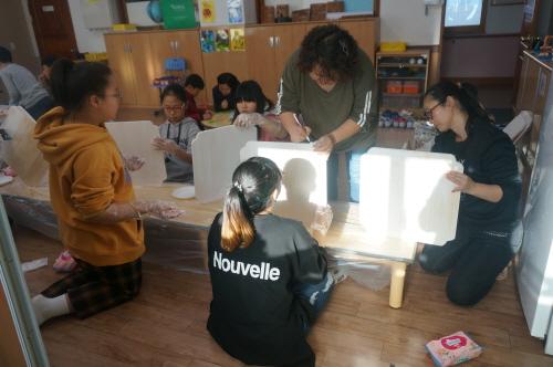 귀둔초등학교'2018 가족과 함께하는 공예체험교실' 운영